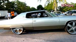 72 chevy impala custom donk on 26 quot forgiatos driving pass
