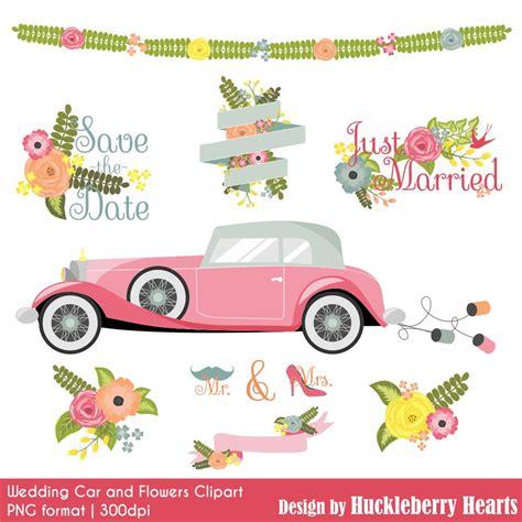 wedding car clipart wedding car and flowers clipart huckleberry hearts