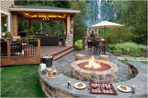 backyard wood patio patio traditional portland ambient landscape lighting
