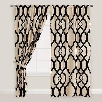 Black And White Lattice Curtains Trellis Rod Pocket Curtain Panel I Jcpenney