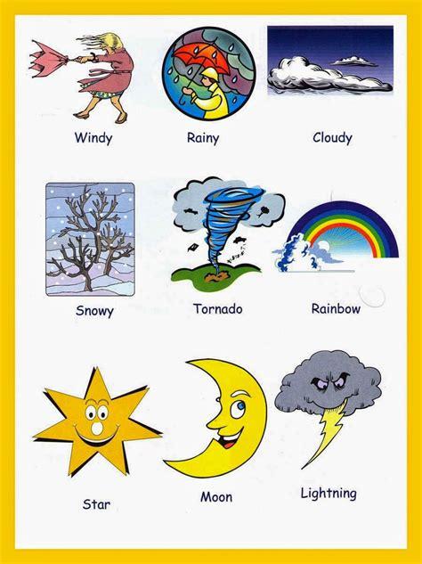 imagenes de weather en ingles los climas en ingles y espa 241 ol para ni 241 os material para