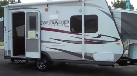 ultra light hybrid travel trailers jayco rv 2014 feather ultra lite x17z hybrid travel