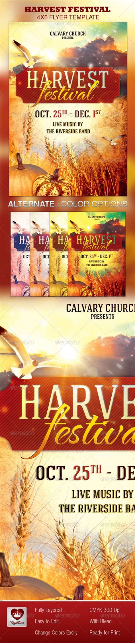 Harvest Festival Church Flyer Template Flyer Template Churches And Print Templates Harvest Festival Flyer Free Template