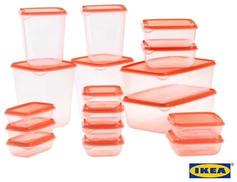 Ikea Pruta ikea pruta top quality durable plastic food container set