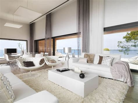 Inneneinrichtung Wohnzimmer by Beautiful Houses White Interior Design