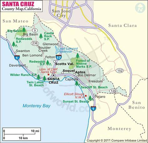 california map santa santa california map my