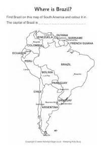 brazil location worksheet