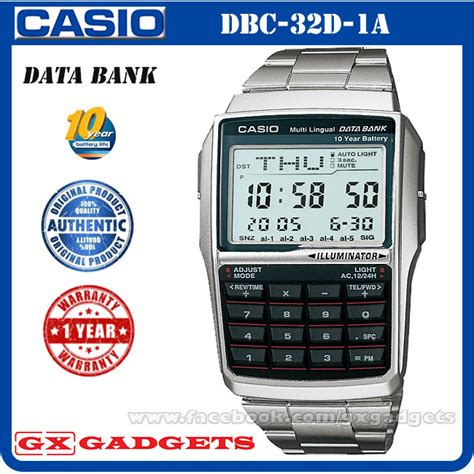 Casio Databank Dbc 32d 1a Dbc32d Original Bergaransi casio dbc 32d 1a data bank digital w end 6 18 2016 2 01 pm
