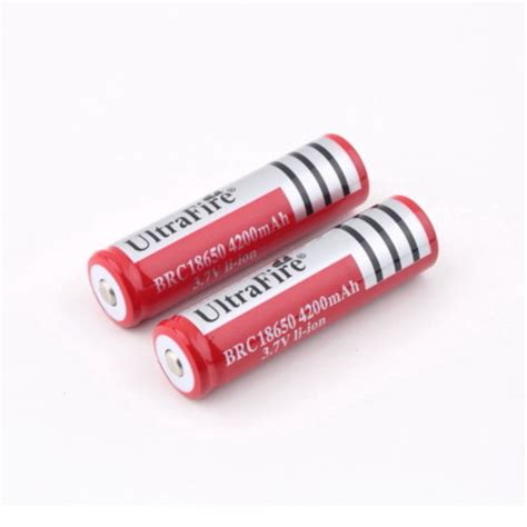 Baterai Ultrafire ultrafire rechargeable battery for led flashlight 3 7v