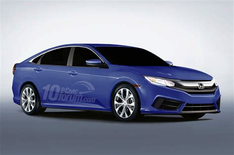 honda civic 2016 sedan 2016 honda civic coupe hatchback and sedan rendered