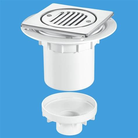 Wet Room Gully Trap Bottom Outlet for Tiles or Stone