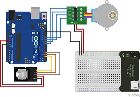 step motor encoder a stepper motor using arduino and rotary encoder