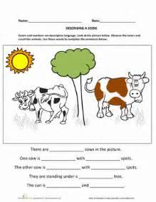 Kindergarten Description by Worksheets Education