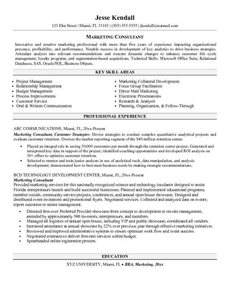 consulting resume exles best consulting resumes exle writing resume sle
