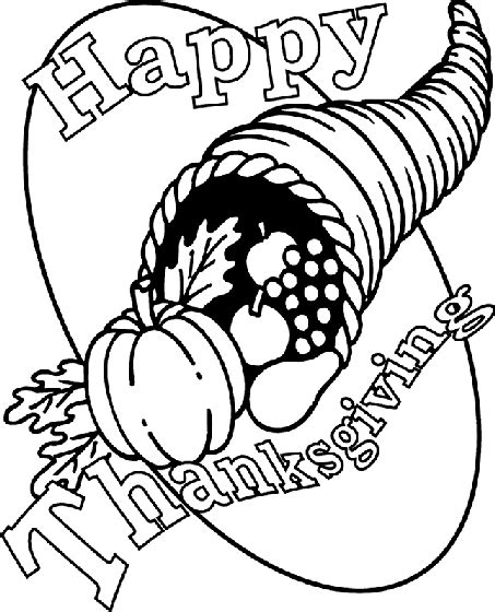 black and white coloring pages for thanksgiving thanksgiving cornucopia coloring page crayola com
