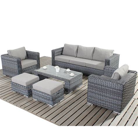 big sofa sets port royal platinum large sofa set with footstools