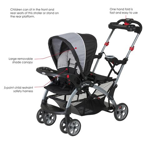 the sit seat baby trend sit n stand ultra tandem stroller