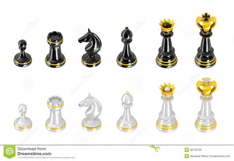 Chess Pieces Outline by Template Of Chess Pieces Royalty Free Stock Photo Image 30159705