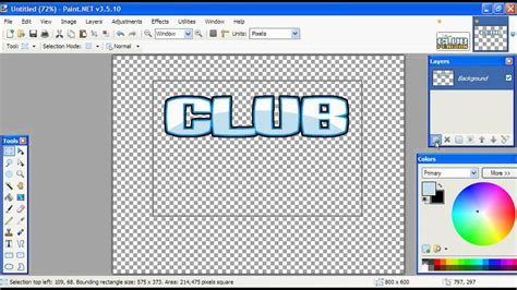 how to make logo how to make the club penguin logo on paint net beginer