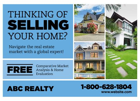 28 Brilliant Realtor Direct Mail Postcard Advertising Templates Real Estate Flyers For Sellers Real Estate Postcard Templates
