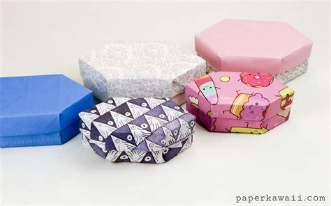 Origami Advanced - origami gem gift box tutorial paper kawaii