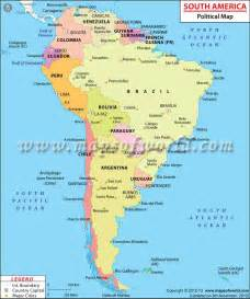 a map of the america south american countries countries in south america