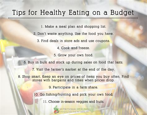 Cheap And Easy Tips For A Healthy And Happy by Tips For Healthy On A Budget Nutritional Healing
