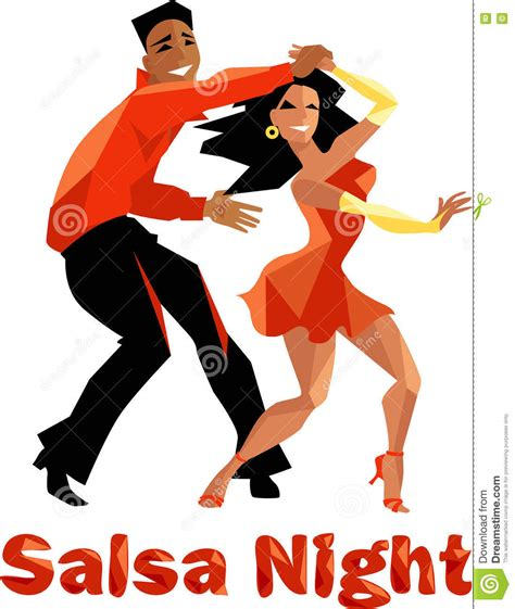salsa clipart salsa poster stock vector illustration of
