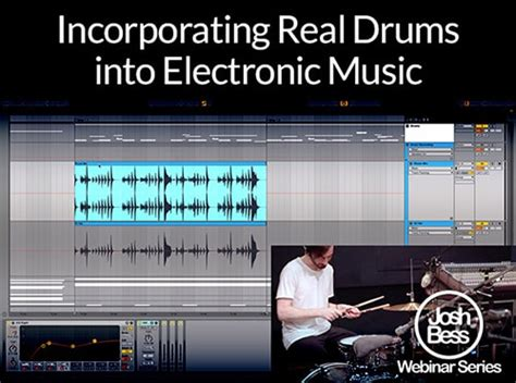 real drum tutorial rude groove3 incorporating real drums into electronic music