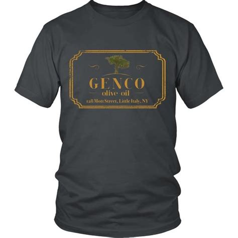 Tshirt The Godfather Gold godfather genco gold front design