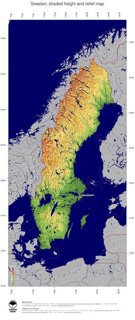 map sweden ginkgomaps continent europe region sweden