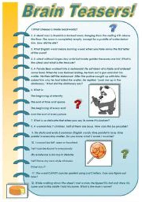 brain games printable worksheets for adults english teaching worksheets brain teasers