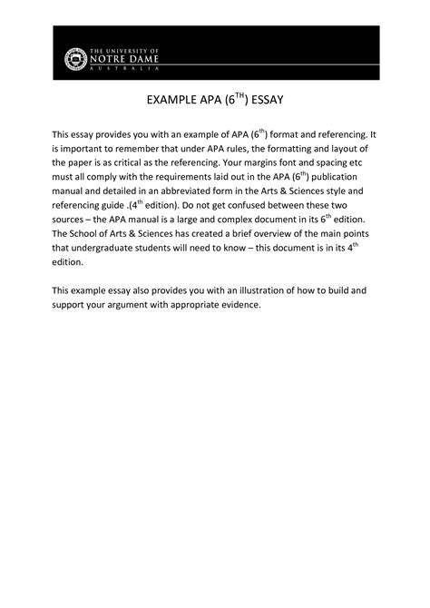Apa Format Essay Abstract by Apa Style Informative Essay