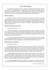 Abstract Essay Writing by Sle Abstract Writing Exles Pictures To Pin On Pinsdaddy