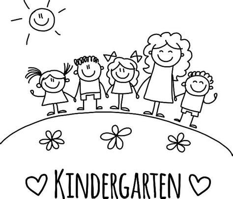 Royalty Free Kindergarten Teacher Clip Art Vector Images Illustrations Istock Drawing Pictures For Kindergarten