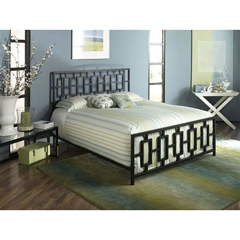 Metal Headboard Footboard by King Metal Bed Frame With Modern Square Tubing Headboard