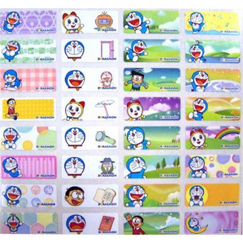 Stiker Doraemon 3 doraemon name stickers small