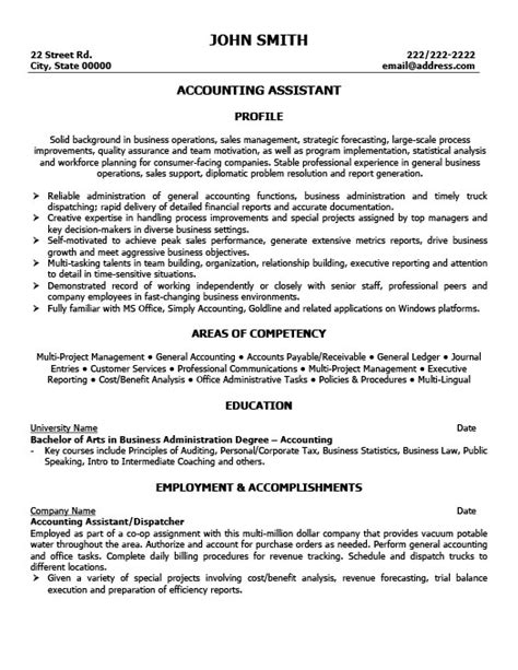 accounting assistant resume sles accounting assistant resume template premium resume