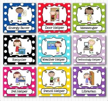 classroom cards editable classroom helpers bright by