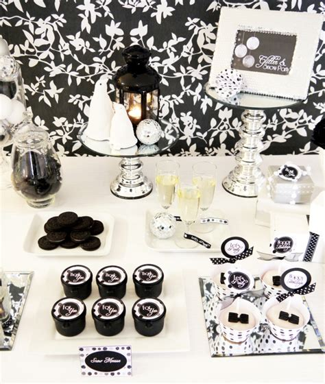 decorations for black and white themed black and white decorations favors ideas
