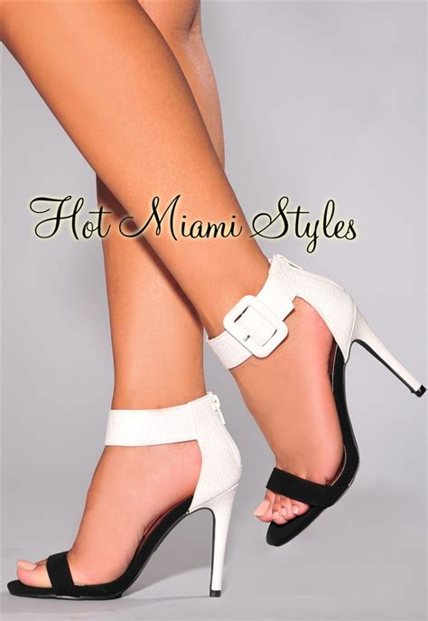 black and white high heel sandals black and white high heel sandals oasis fashion
