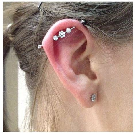 top ear bar 25 best ideas about cute industrial piercing on pinterest