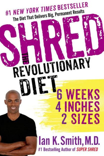 shred  revolutionary diet  weeks  inches  sizes  ian  smith nook book
