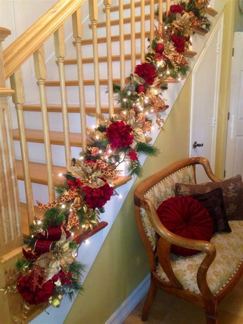 garland for stairs christmas 17 best images about staircase on decor stairs and