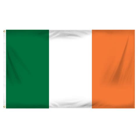 ireland flag 3ft x 5ft printed polyester