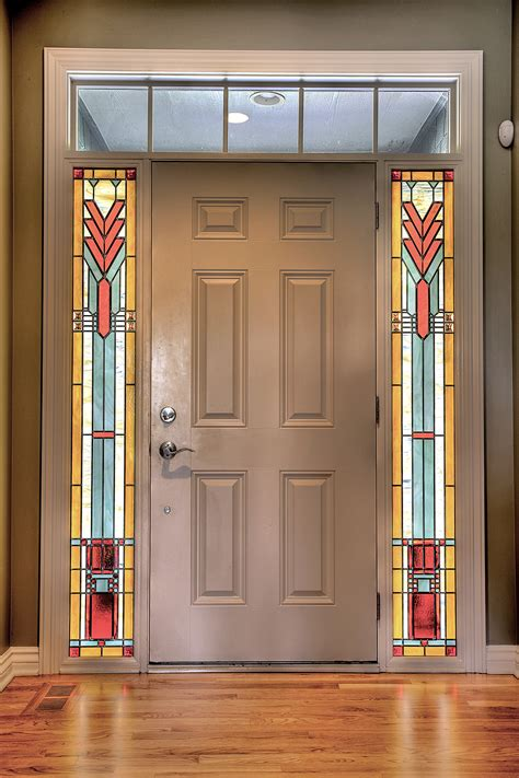 Glass Sidelights For Doors Prairie Style Stained Glass Sidelights Painted Light Stained Glass