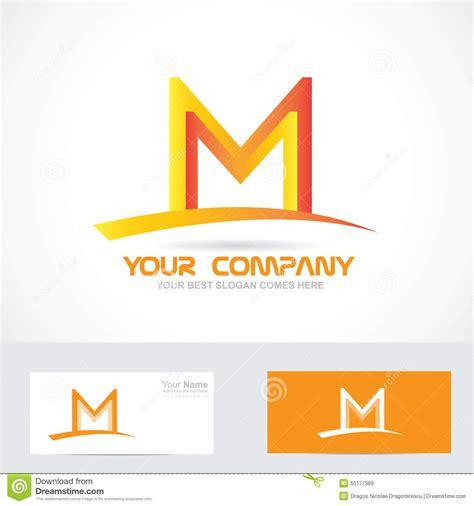 M Vector Logos Brand Logo - letter m orange 3d logo stock vector image 55177369