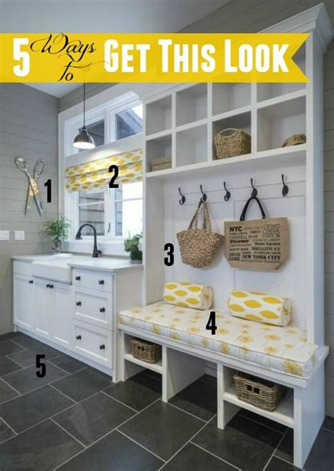 5 ways to get this look yellow gray mudroom ahorrar