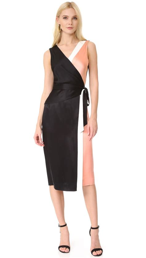Diane Furstenberg The Wrap lyst diane furstenberg sleeveless taped wrap dress