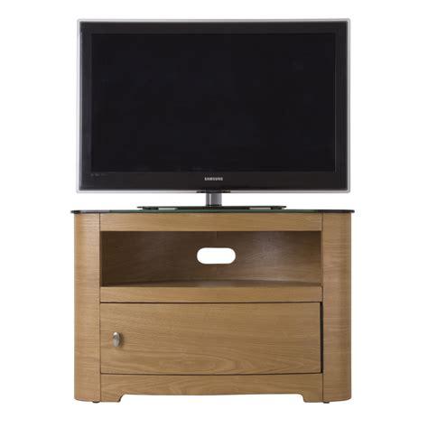 32 Inch Tv Cabinet by Oak Veneer Oval Black Glass Top Tv Cabinet Lcd Plasma